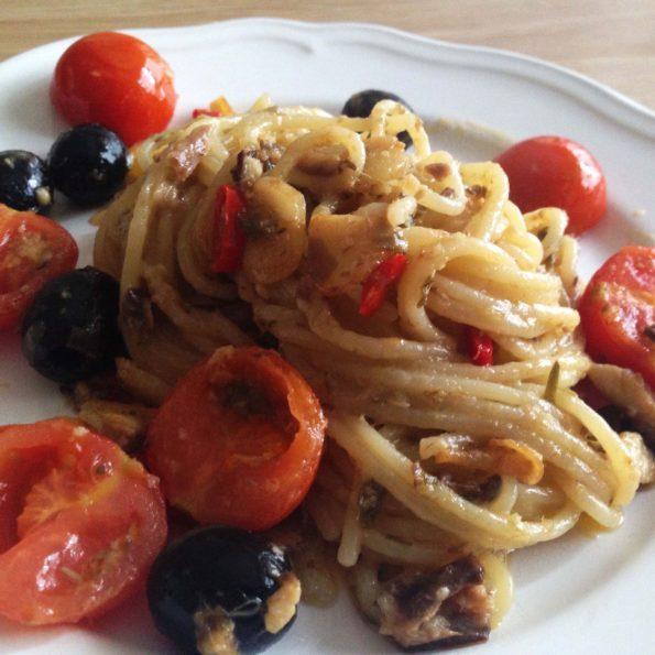 spaghetti z kaparami 2